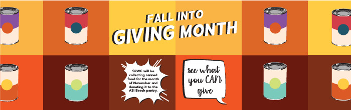 Fall Into Giving Month banner