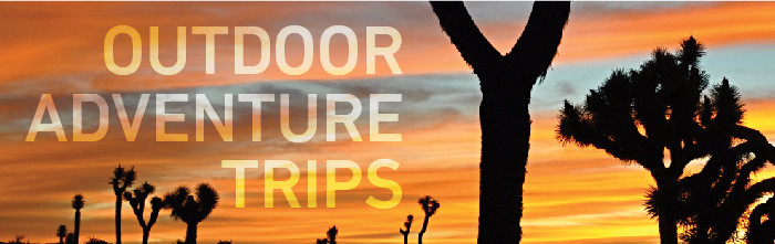 Upcoming Outdoor Adventure Trips Banner