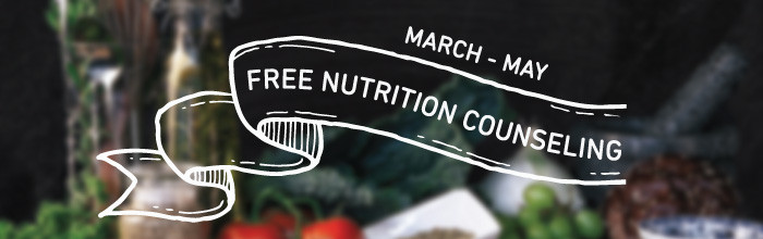 Free Nutrition Counseling from March to May